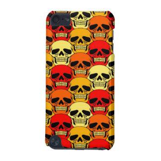 Rojo, naranja y amarillo del modelo del cráneo que funda para iPod touch 5G