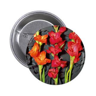 Rojo, naranja y flores del gladiolo del escarlata pins