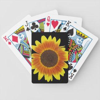 Rojo, naranja, y girasol del amarillo cartas de juego