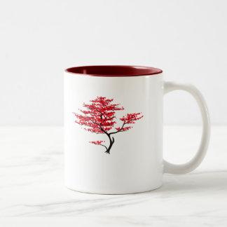 Rojo natural taza dos tonos