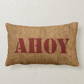 Rojo náutico de la palabra Ahoy