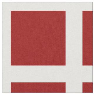 Rojo náutico en el cuadrado blanco del cristal telas