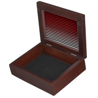 Rojo, negro y añada el 3ro color caja de recuerdos