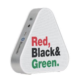 Rojo, negro y verde altavoz