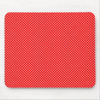 Rojo neto del modelo con blanco alfombrilla de raton