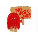 Rojo no más de guerra postales