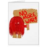 Rojo no más de guerra tarjetas