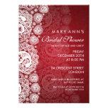 Rojo nupcial elegante del cordón de Paisley de la  Comunicados