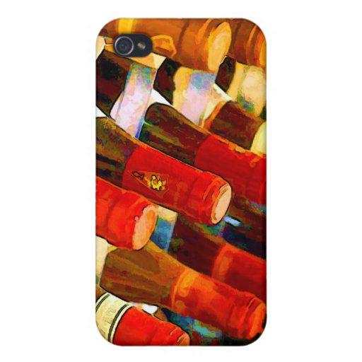 Rojo o blanco iPhone 4 fundas