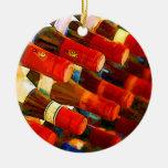 Rojo o blanco ornamento para arbol de navidad
