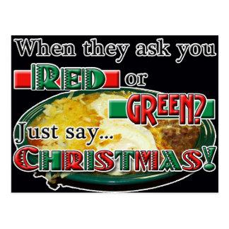 ¿Rojo o verde… o navidad? Tarjetas Postales