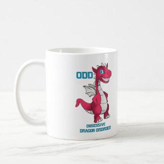 Rojo obsesivo de la taza del dragón
