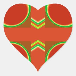 Rojo ocho pegatina en forma de corazón