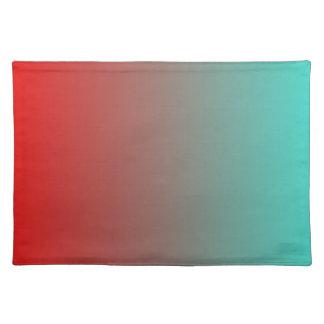 Rojo Ombre de la turquesa Manteles