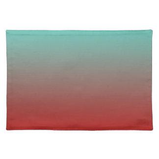 Rojo Ombre de la turquesa Mantel