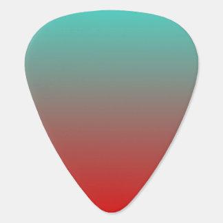 Rojo Ombre de la turquesa Plumilla De Guitarra