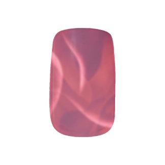 Rojo ondulado arte para uñas