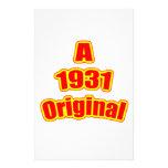Rojo original 1931 papelería