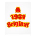Rojo original 1931 plantilla de membrete
