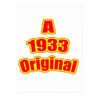 Rojo original 1933 postales