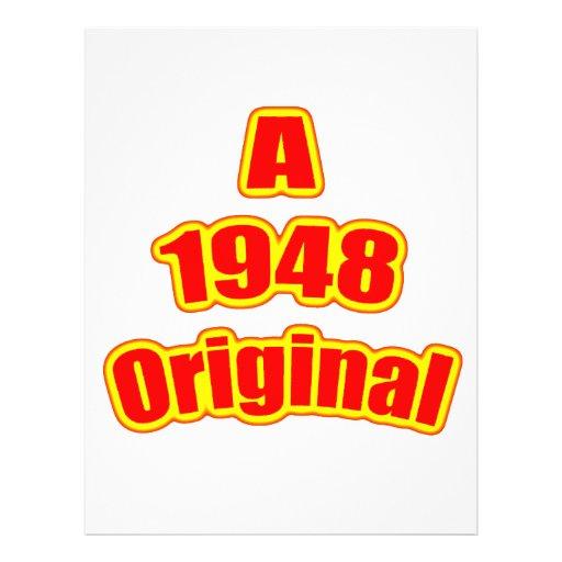 """Rojo original 1948 folleto 8.5"""" x 11"""""""