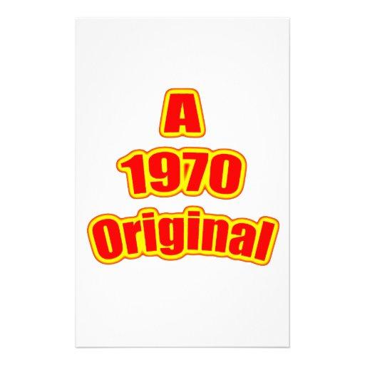 Rojo original 1970 papeleria personalizada