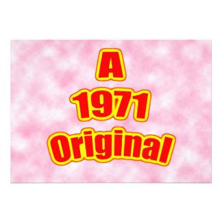 Rojo original 1971 anuncios personalizados