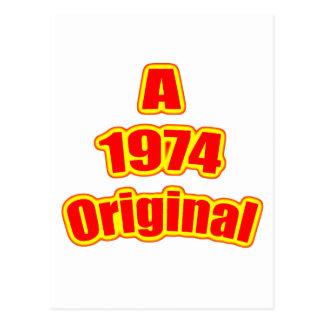 Rojo original 1974 postal