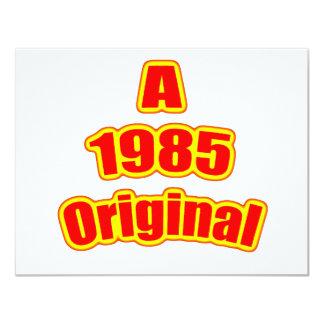 """Rojo original 1985 invitación 4.25"""" x 5.5"""""""