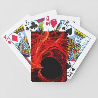 Rojo, oro, y corazón abstracto negro baraja