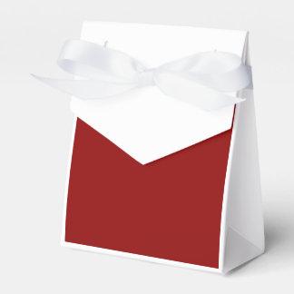 Rojo oscuro cajas para detalles de boda