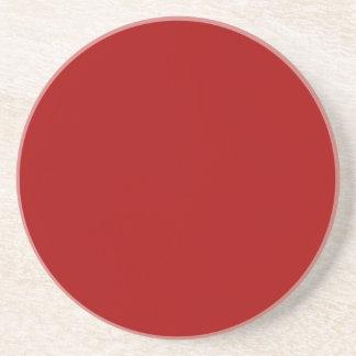Rojo oscuro de Apple de caramelo Posavasos Personalizados