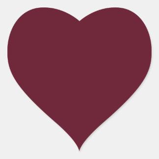 Rojo oscuro del escarlata pegatina en forma de corazón