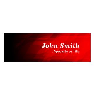 Rojo oscuro simple y moderno tarjetas de visita mini