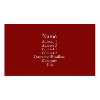 Rojo oscuro tarjetas de visita