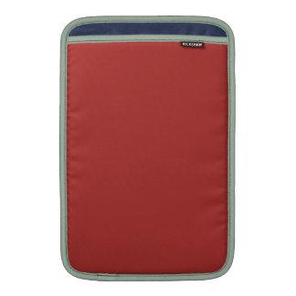 ~ ROJO OXIDADO (del color sólido) Funda MacBook