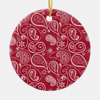 Rojo Paisley del carmín Adorno Para Reyes