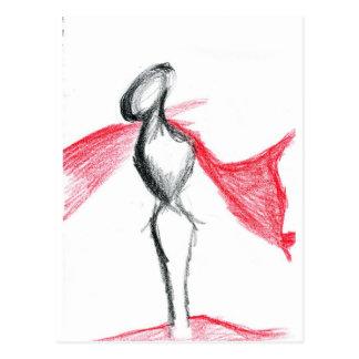 Rojo pálido de Statua Tarjetas Postales