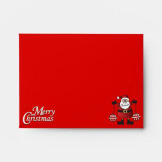 Rojo Papá Noel de las Felices Navidad Sobre