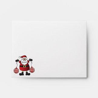 Rojo Papá Noel de las Felices Navidad Sobres