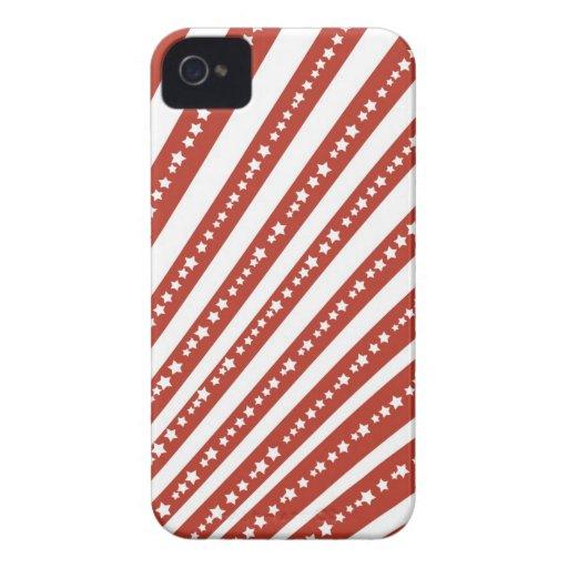 Rojo patriótico y el blanco protagoniza la bandera iPhone 4 carcasas