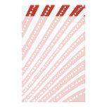 Rojo patriótico y el blanco protagoniza la bandera papeleria personalizada