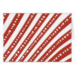 Rojo patriótico y el blanco protagoniza la bandera tarjeta pequeña