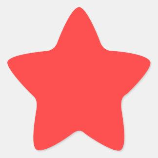 Rojo Pegatina En Forma De Estrella