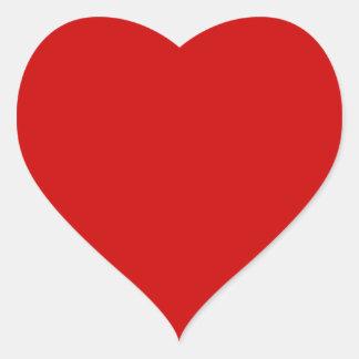 Rojo Pegatina En Forma De Corazón