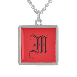 Rojo perfecto collar de plata de ley