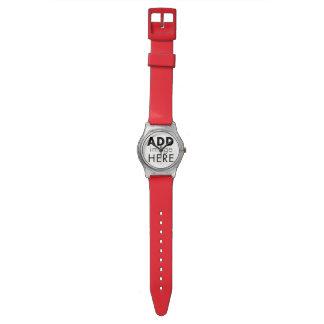 Rojo perfecto relojes de pulsera