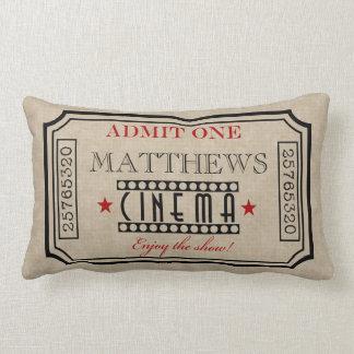 Rojo personalizado de la almohada del boleto de cojín lumbar
