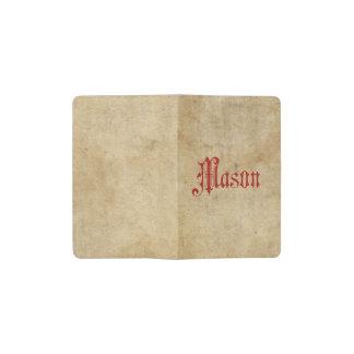 Rojo personalizado del albañil del pergamino de libreta de bolsillo moleskine