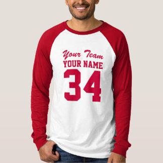 Rojo personalizado del jersey del deporte atlético